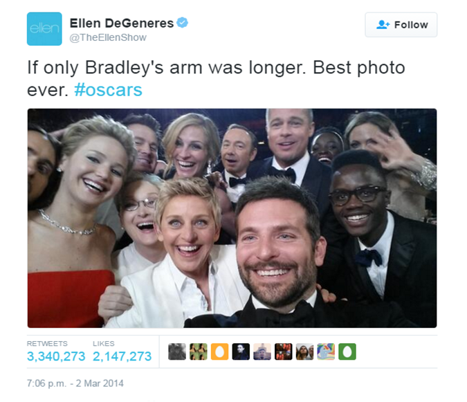 Oscar selfie