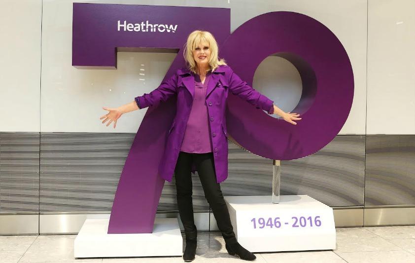 Joanna Lumley celebrates Heathrow's 70th anniversary