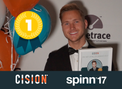 Viktor Frisk wins the 2017 Swedish Cision PR influencer award