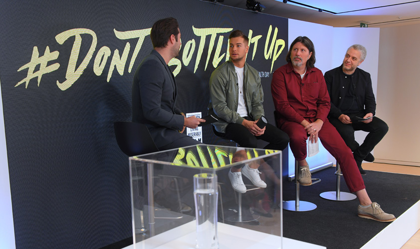 W used World Mental Health Day and a partnership with Topman and Love Island's Chris Hughes to promote CALM's message to men that it is okay to open up about the problems they face.