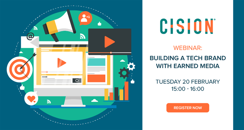 Cision webinar to reveal how to build a tech brand with earned media