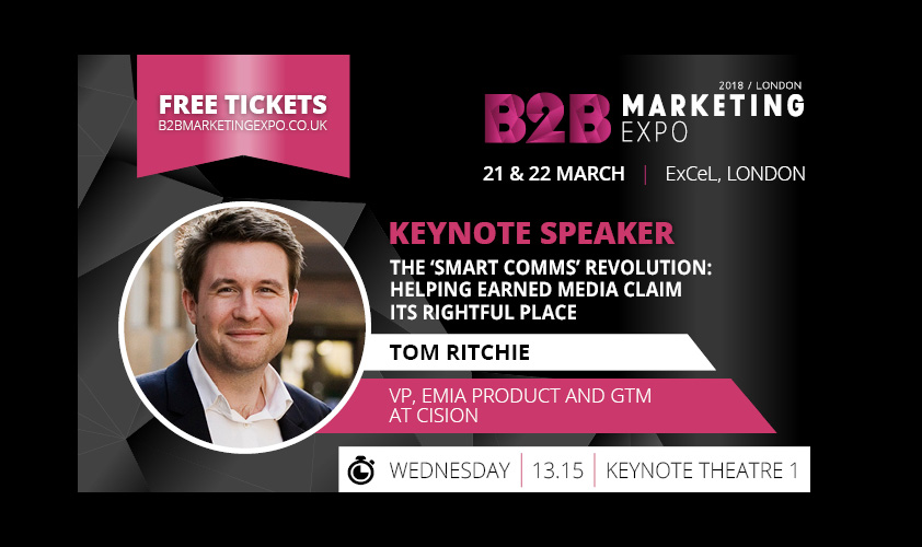 Cision's Tom Ritchie to deliver keynote speech at B2B Marketing Expo