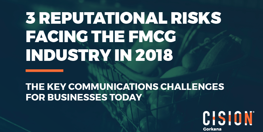 Cision identifies 3 reputational risks facing the FMCG industry